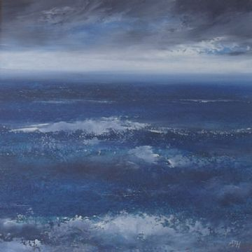 Amanda Hoskin Original Oil Painting Land's End Seascape Cornwall